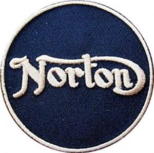 Norton iron-on/sew-on cloth patch  (ff round)